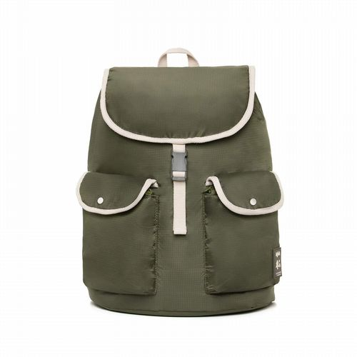 Recycled PET Bottle Rucksack - Knapsack - Olive
